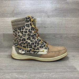 Sperry Top-Sider Cheetah Print High Top Boots